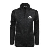 Black Heather Ladies Fleece Jacket-