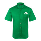 Kelly Green Twill Button Down Short Sleeve-