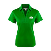 Ladies Kelly Green Performance Fine Jacquard Polo-