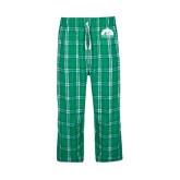 Green/White Flannel Pajama Pant-