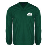 V Neck Dark Green Raglan Windshirt-
