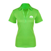 Ladies Lime Green Silk Touch Performance Polo-