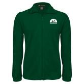 Fleece Full Zip Dark Green Jacket-