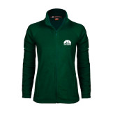 Ladies Fleece Full Zip Dark Green Jacket-