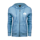 ENZA Ladies Light Blue Fleece Full Zip Hoodie-