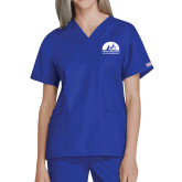 Ladies Royal Two Pocket V Neck Scrub Top-