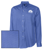 Cutter & Buck French Blue Nailshead Long Sleeve Shirt-