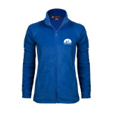 Ladies Fleece Full Zip Royal Jacket-