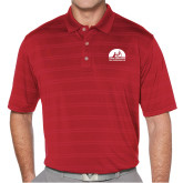 Callaway Horizontal Textured Deep Red Polo-