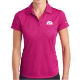 Ladies Nike Dri Fit Fuchsia Crosshatch Polo-