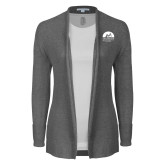 Ladies Heather Grey Open Front Cardigan-Kinkeade Campus