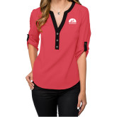 Ladies Posh Coral 3/4 Sleeve Blouse-