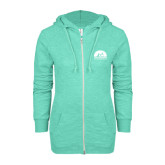 ENZA Ladies Seaglass Marled Full Zip Hoodie-