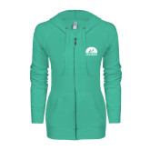 ENZA Ladies Seaglass Light Weight Fleece Full Zip Hoodie-