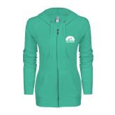 ENZA Ladies Seaglass Light Weight Fleece Full Zip Hoodie-