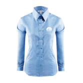 Ladies Red House Light Blue Long Sleeve Shirt-