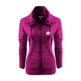 Ladies Sport Wick Stretch Full Zip Deep Berry Jacket-