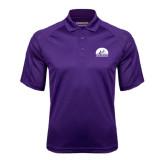 Purple Textured Saddle Shoulder Polo-
