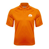 Orange Textured Saddle Shoulder Polo-