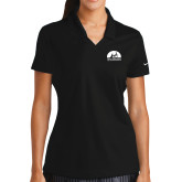 Ladies Nike Golf Dri Fit Black Micro Pique Polo-