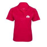 Ladies Pink Raspberry Dry Mesh Pro Polo-