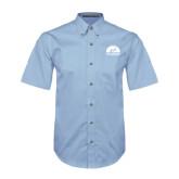 Light Blue Twill Button Down Short Sleeve-
