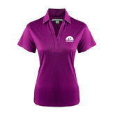 Ladies Purple Performance Fine Jacquard Polo-