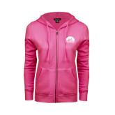 ENZA Ladies Fuchsia Fleece Full Zip Hoodie-