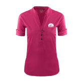 Ladies Ogio Deep Berry Fashion Henley-