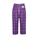 Ladies Purple/White Flannel Pajama Pant-