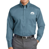 Red House Teal Long Sleeve Shirt-