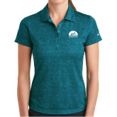 Ladies Nike Dri Fit Teal Crosshatch Polo-
