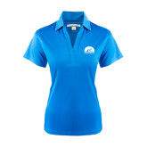 Ladies Light Blue Performance Fine Jacquard Polo-