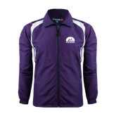 Colorblock Purple/White Wind Jacket-