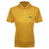 Ladies Gold Dry Mesh Polo-Kinkeade Campus