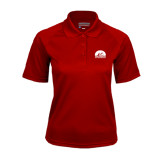 Ladies Cardinal Textured Saddle Shoulder Polo-
