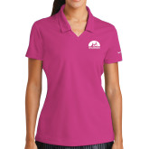 Ladies Nike Golf Dri Fit Fuchsia Micro Pique Polo-