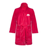 Ladies Pink Raspberry Plush Microfleece Shawl Collar Robe-