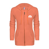 ENZA Ladies Coral Light Weight Fleece Full Zip Hoodie-