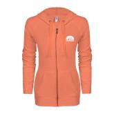 ENZA Ladies Coral Light Weight Fleece Full Zip Hoodie-