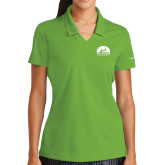 Ladies Nike Golf Dri Fit Vibrant Green Micro Pique Polo-