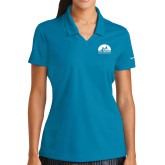 Ladies Nike Golf Dri Fit Teal Micro Pique Polo-