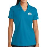 Ladies Nike Golf Dri Fit Teal Micro Pique Polo-