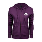 ENZA Ladies Purple Fleece Full Zip Hoodie-