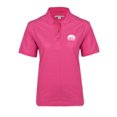 Ladies Easycare Tropical Pink Pique Polo-