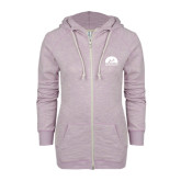 ENZA Ladies Hot Violet Marled Full Zip Hoodie-