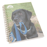 Clear 7 x 10 Spiral Journal Notebook-Dog with Leash