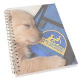 Clear 7 x 10 Spiral Journal Notebook-Dog Sleeping