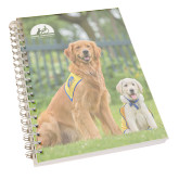 Clear 7 x 10 Spiral Journal Notebook-Big Dog with Puppy