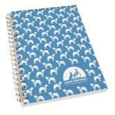 Clear 7 x 10 Spiral Journal Notebook-Dog Pattern